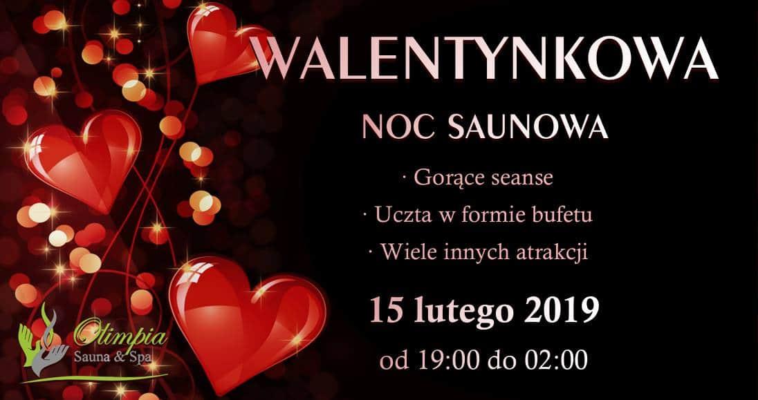 Walentynkowa Noc Saunowa Sauna Olimpia Białcz