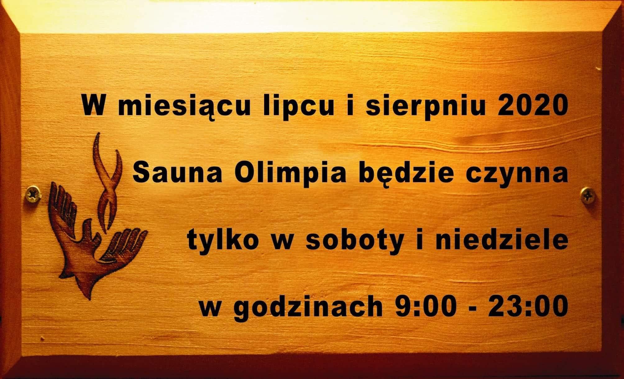 Sauna Olimpia Godziny Otwarcia